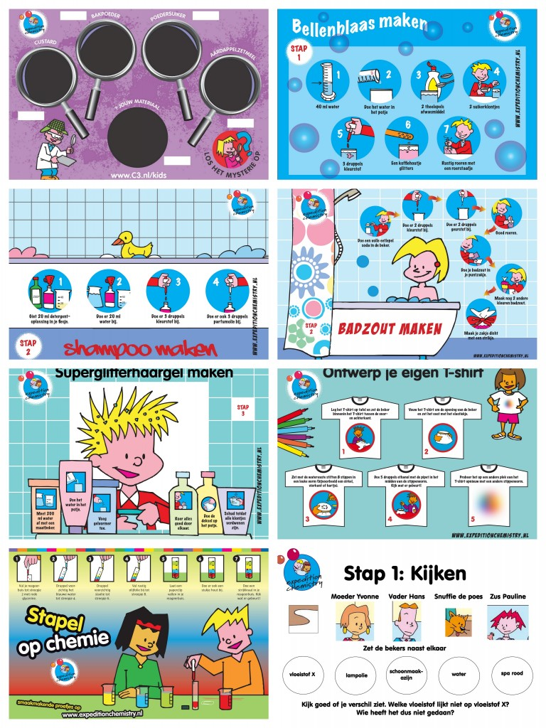 collage van kinderlabproeven