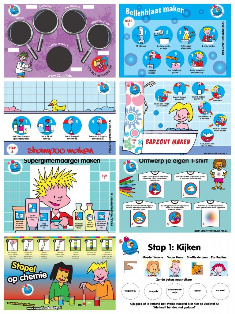 collage van kinderlabproeven